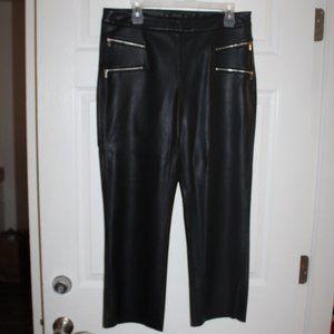 ZARA Cropped  Faux Leather Women size Large
